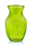 Green glass vase Royalty Free Stock Image