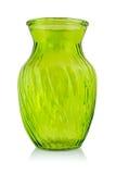 Green glass vase Royalty Free Stock Image