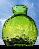 Green glass vase Stock Photos
