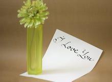 Green glass vase. Royalty Free Stock Photo