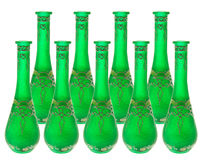 Green Glass Vases Royalty Free Stock Image