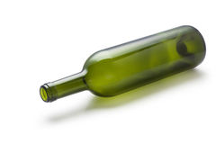 green glass wine bottle Stock Image