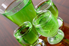 Green glasses cocktail Stock Photos