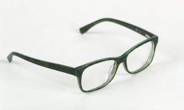 Green glasses. On white background Stock Photo
