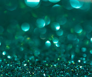 Green glitter background stock photos