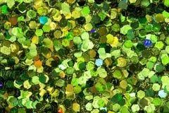 Green Glitter Background. Six-sided green glitter background Vector Illustration
