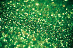 Green glitter bokeh background Royalty Free Stock Photo