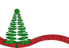 Green glitter christmas tree background Royalty Free Stock Image