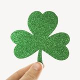 Green glitter shamrock. Royalty Free Stock Photo