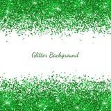 Green glitter on white backround. Vector. Illustration Royalty Free Stock Photo