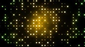 Green Glittering Light Grid Stock Photo