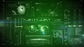Green global business interface stock video footage