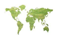Green global map Stock Photos