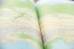 Green global map book Royalty Free Stock Photo