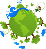 Green globe Stock Photos