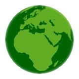 Green globe vector illustration