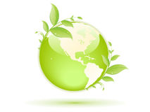 Green globe Stock Photo