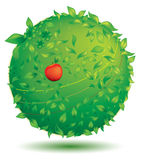 Green globe. Symbol of blooming nature planet Stock Image