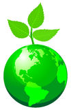 Green globe Stock Photo