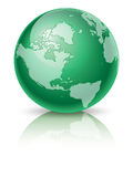 Green Globe. Illustration of green globe available as eps. Created in illustrator Stock Photo
