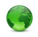Green globe. Shiny green globe created in Photoshop Royalty Free Stock Photo