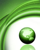 Green globe background Stock Photo