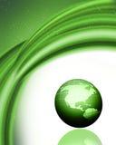 Green globe background Stock Photo