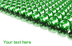 Green globe background with space for your text Stock Photography