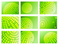 Green globe backgrounds Stock Photography