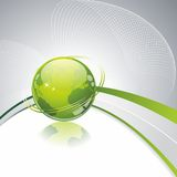 Green globe icon . Eco background Royalty Free Stock Photography