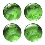 Green globe icons Stock Image