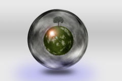 Green globe Stock Photography