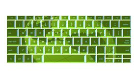 Green globe keyboard Royalty Free Stock Photos
