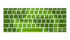 Green globe keyboard. Globe projected onto green keyboard Royalty Free Stock Photos