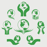 Green Globe Logo Vector Illustration Stock Photos
