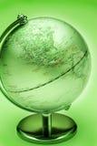 Green Globe North America. A green metallic globe showing North America Stock Image