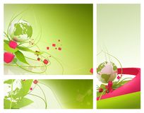 Green globe spring abstract Royalty Free Stock Photography