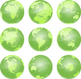 Green Globes vector illustration