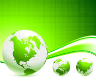 Green Globes On Abstract Background Royalty Free Stock Image