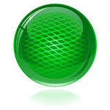 Green glossy abstract sphere Stock Photography