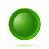 Green glossy button icon royalty free illustration