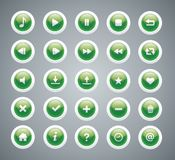 Green glossy buttons Stock Image