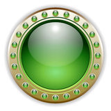 Green Glossy Vector Button Illustration vector illustration