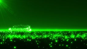 Green Glowing Christmas Tree Royalty Free Stock Image