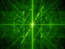 Green glowing laser beams background Stock Photo