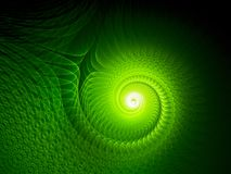 Green glowing multidimensional spiral. Computer generated abstract background, 3D rendering Royalty Free Stock Image