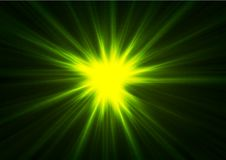 Green glowing shiny beams abstract background. Green glowing shiny beams abstract vector background Royalty Free Stock Photo