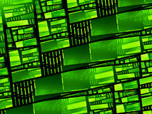Green glowing stained glass. Computer generated abstract background, 3D rendering Royalty Free Stock Image