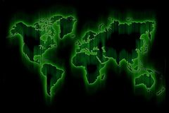Green Glowing World Stock Photography