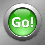 Green go button Royalty Free Stock Photography